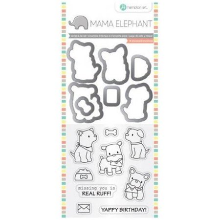 - Mama Elephant Stamp and Die Set - Puppy Play