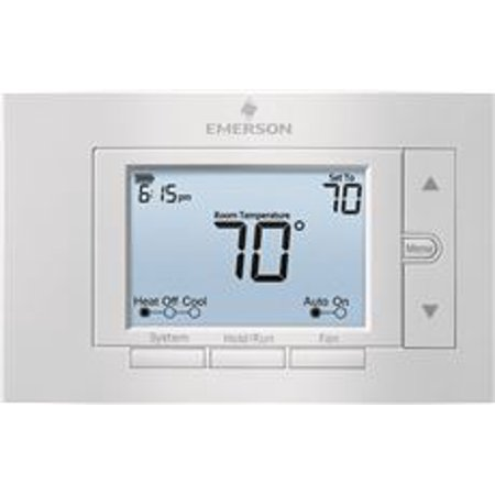 Emerson 80 Series Universal Programmable Thermostat, 5 In. Display, 2 Heat / 2 Cool