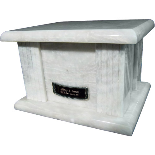 Star Legacy's Classic White Large Marble Adult Funeral Cremation Urn for Human Ashes