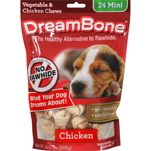 Dreambone Vegetable & Chicken Mini Dog Chews, 24ct