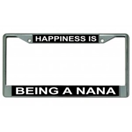 Happiness Is Being A Nana Chrome License Plate Frame - image 2 de 2