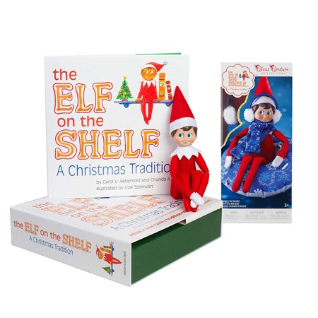 The Elf on the Shelf: A Christmas Tradition Boy Scout Elf (Blue Eyed) with Claus Couture Collection Totally Tubular Snow Set - Elves Christmas