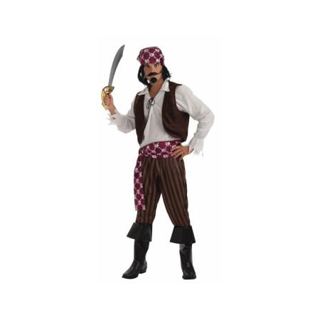 Pirate Halloween Costumes Men (Mens Shipwrecked Pirate Halloween)