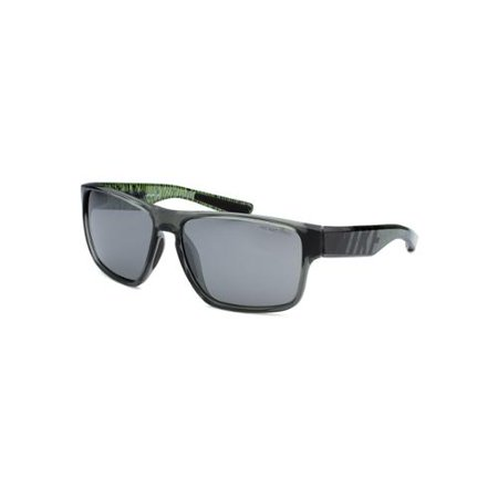 Nike Men's Mojo Square Translucent Grey Sunglasses For a cool and sporty look for men, these Mojo sunglasses are the perfect choice in fashion. They're dark grey translucent appearance is contrasted by lime green accents, making for a fun and stylish look. SKU: SUN-EV0784-001For a cool and sporty look for men, these Mojo sunglasses are the perfect choice in fashion. They're dark grey translucent appearance is contrasted by lime green accents, making for a fun and stylish look. Manufactured: ChinaFrame: YesNose Pads: StationaryGender: MenFrame Material: PlasticTheme: Clean & SimpleFrame Color: GreyLens Color: GreyGradient: NoArm Color: GreyBridge Width (mm.):15Lens Width (mm.):59Total Lens Width (in.):5.25Arm Length (mm.):140Sun Protection: UVScratch/Impact Resistant: NoMirrored Lens: NoShape: SquareFrame Color Secondary: TranslucentArm Color Secondary: TranslucentCondition: New