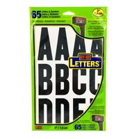 "Hy-Ko 3"" Vinyl Black and White Self-adhesive Sticker Letter Kit, 65 Pieces"
