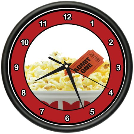 Popcorn   Movie Wall Clock Theater Lounge Film School Decor Gift
