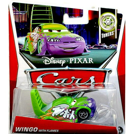 Wingo Supercharged (Disney Cars Series 3 Wingo with Flames 1:55 Diecast Car )