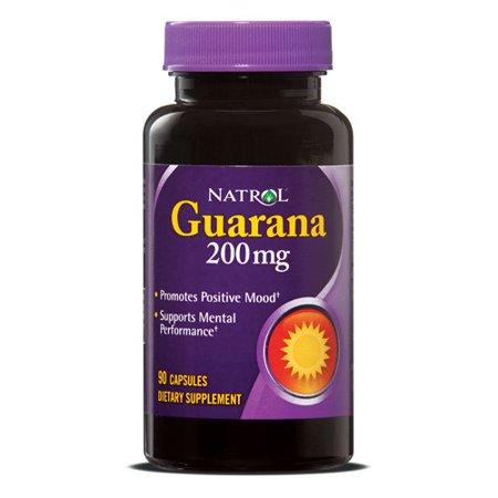 Natrol Guarana 200mg Capsules, 90 Ct