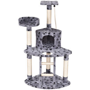 "48"" Cat Tree Kitten Activity Tower Furniture Condo Perches Scratching Posts Rope by"