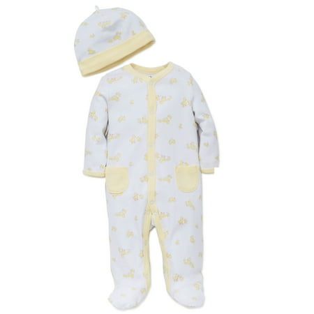 Unisex Cute Yellow Duck Print Snap Front Footie Pajamas For Baby Boys or Baby Girls with Bib Sleep N Play One Piece Romper Coverall Cotton Infant Footed Sleeper; Pijamas Para - Disfraces Halloween Para Bebes
