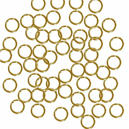 (Open Jump Rings 24 Grams approx 200pc Gold plated Brass 7mm Round 18 Gauge)