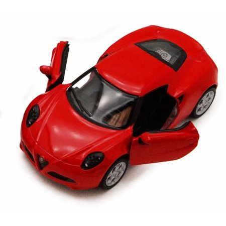 2013 Alfa Romeo 4C, Red - Kinsmart 5366D - 1/32 scale Diecast Model Toy Car (Brand New, but NOT IN