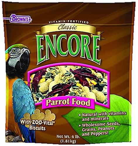 FM Brown's Encore Parrot Bird Food, 4 Lb by F.M. Browns