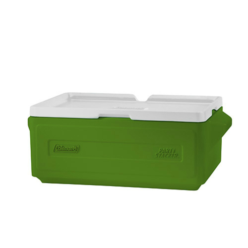 Coleman 24 Can Party Stacker Cooler Green Stacking Design w/ Molded Handles