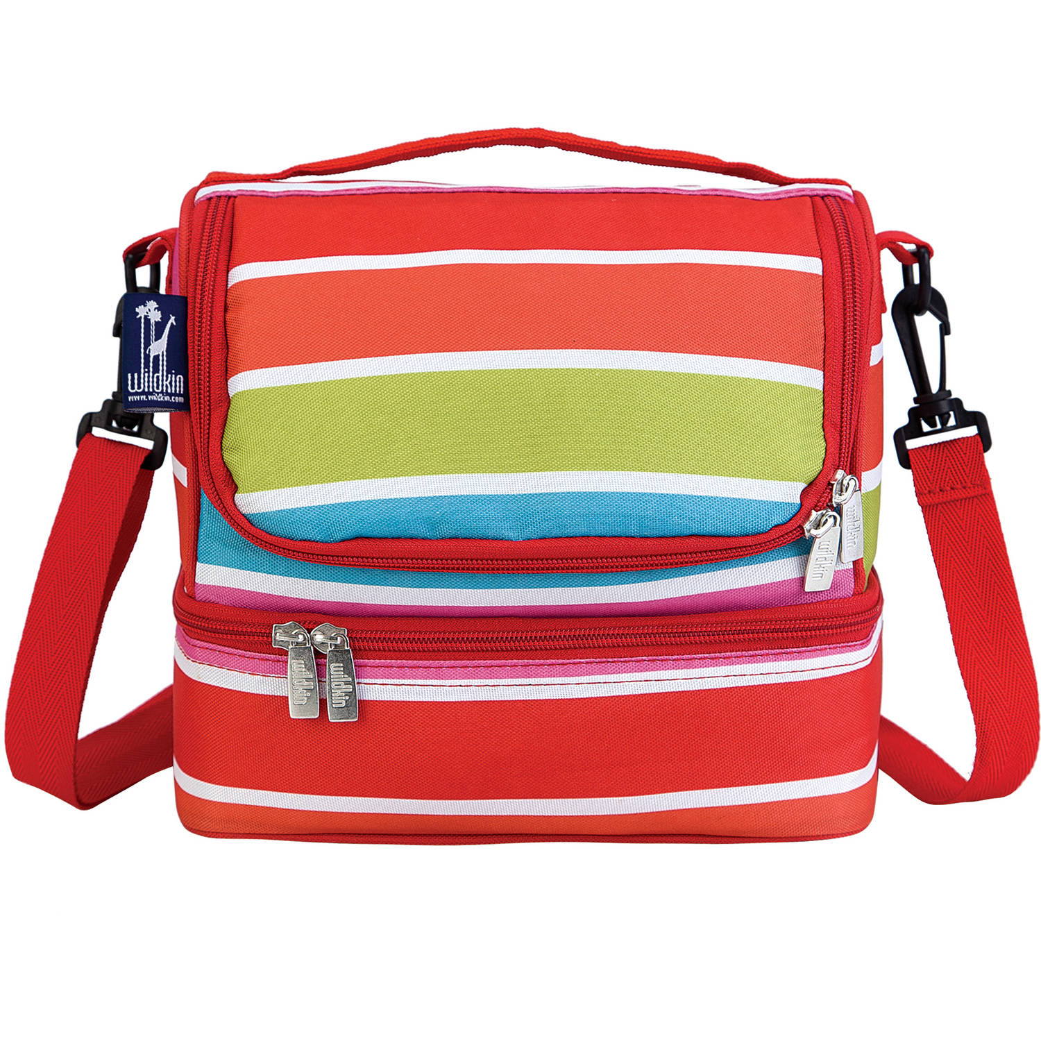 Wildkin Bright Stripes Two Compartment Lunch Bag