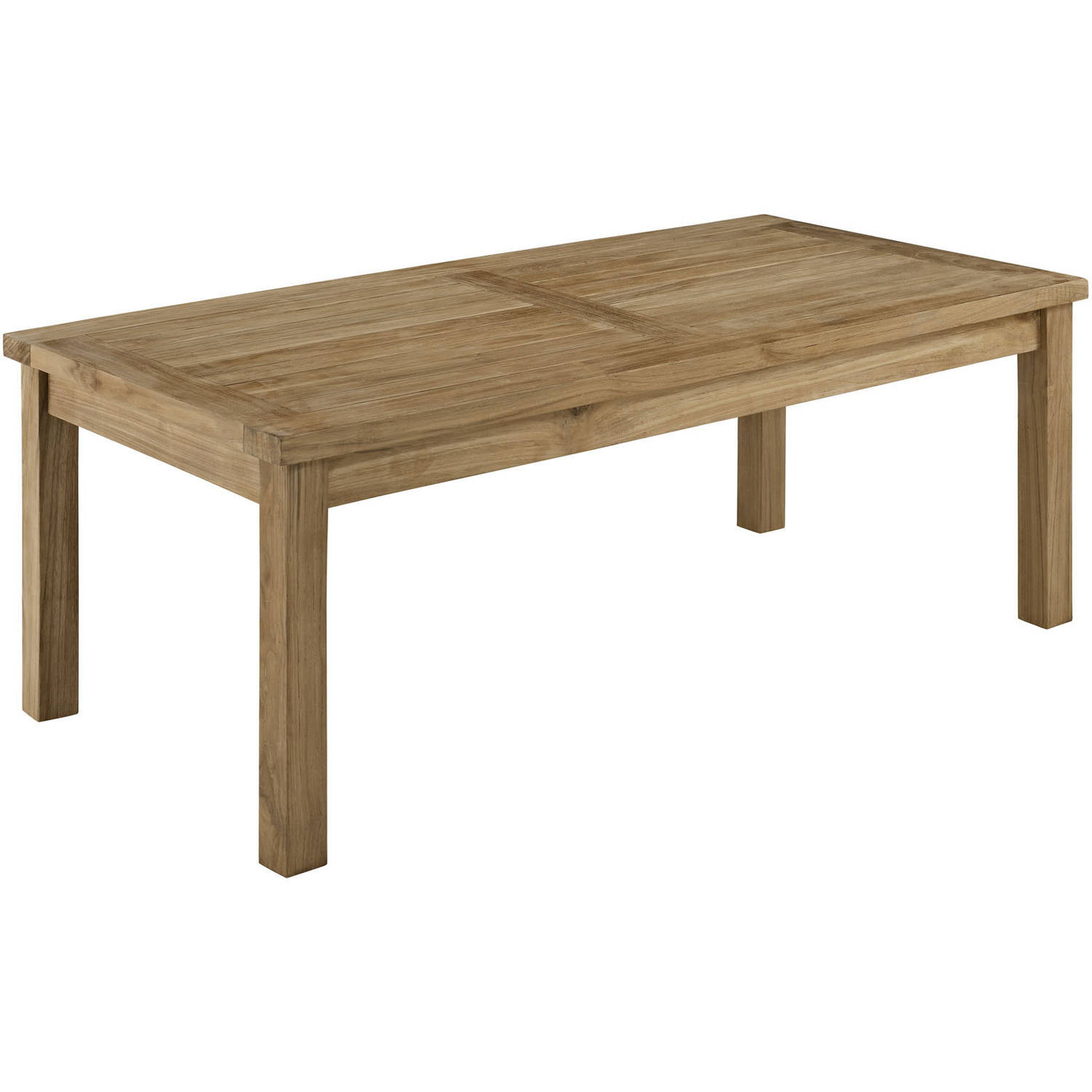 Modway Marina Outdoor Patio Teak Rectangle Coffee Table, Natural by Modway