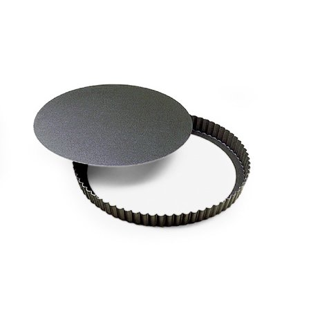 """Gobel Round Fluted Non-Stick Tart Pan with Removable Bottom 4"""""""
