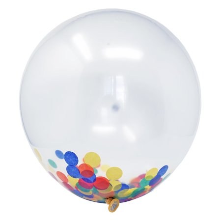 18 Inch Confetti Filled Diy Kit Party Balloons Set 6 Clear Balloons