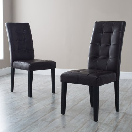 Awe Inspiring Martha Bonded Leather Parsons Dining Chair Set Of 2 Spiritservingveterans Wood Chair Design Ideas Spiritservingveteransorg