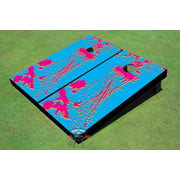 90's Splatter Themed Cornhole Boards