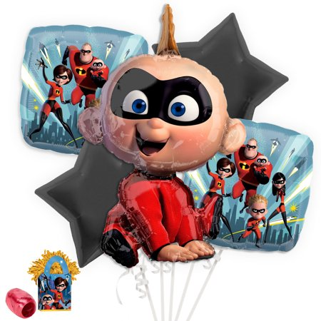 Incredibles 2 Jack Jack Balloon Bouquet Kit - Jack And The Neverland Pirates Party Supplies