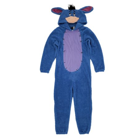 Disney Winnie The Pooh Mens Plush Eeyore Costume Union Suit Pajamas