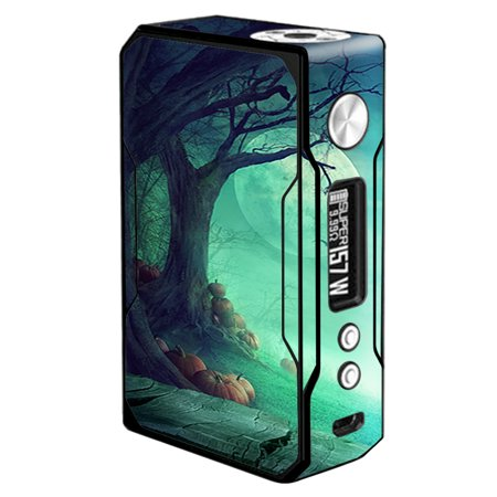 Skin Decal For Voopoo Drag Vape / Halloween Tree Moon - Drag Halloween