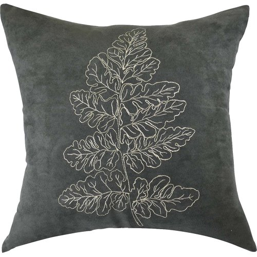 North Home Carlton Embroidered Cotton Throw Pillow