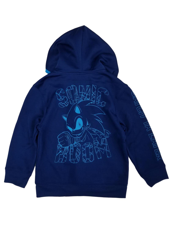 Sonic Boom Sonic Boom Little Boys Navy Sonic The Hedgehog Zip Front Hoodie Sweatshirt Walmart Com Walmart Com