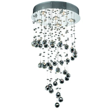 Galaxy 6 Light Crystal (Clear) Chandelier in Chrome Finish 2024D18C/SA