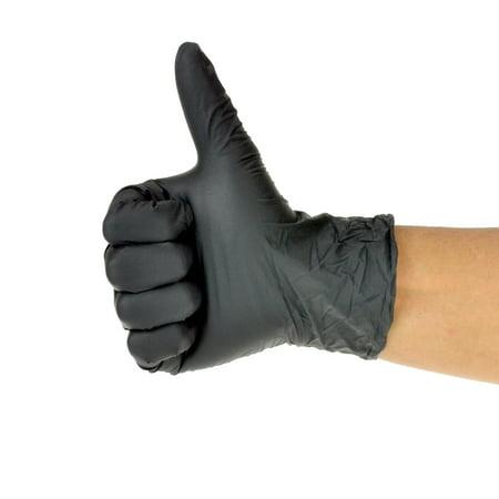 Dealmed Nitrile Exam Gloves, Black, Medium, (Best Gloves For Cold Hands)