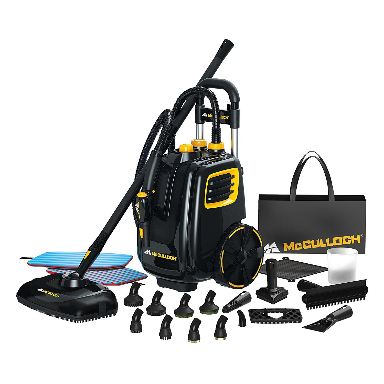 McCulloch Deluxe Canister Steam Cleaner System w/ Pet Fresh Dry Carpet Cleaner