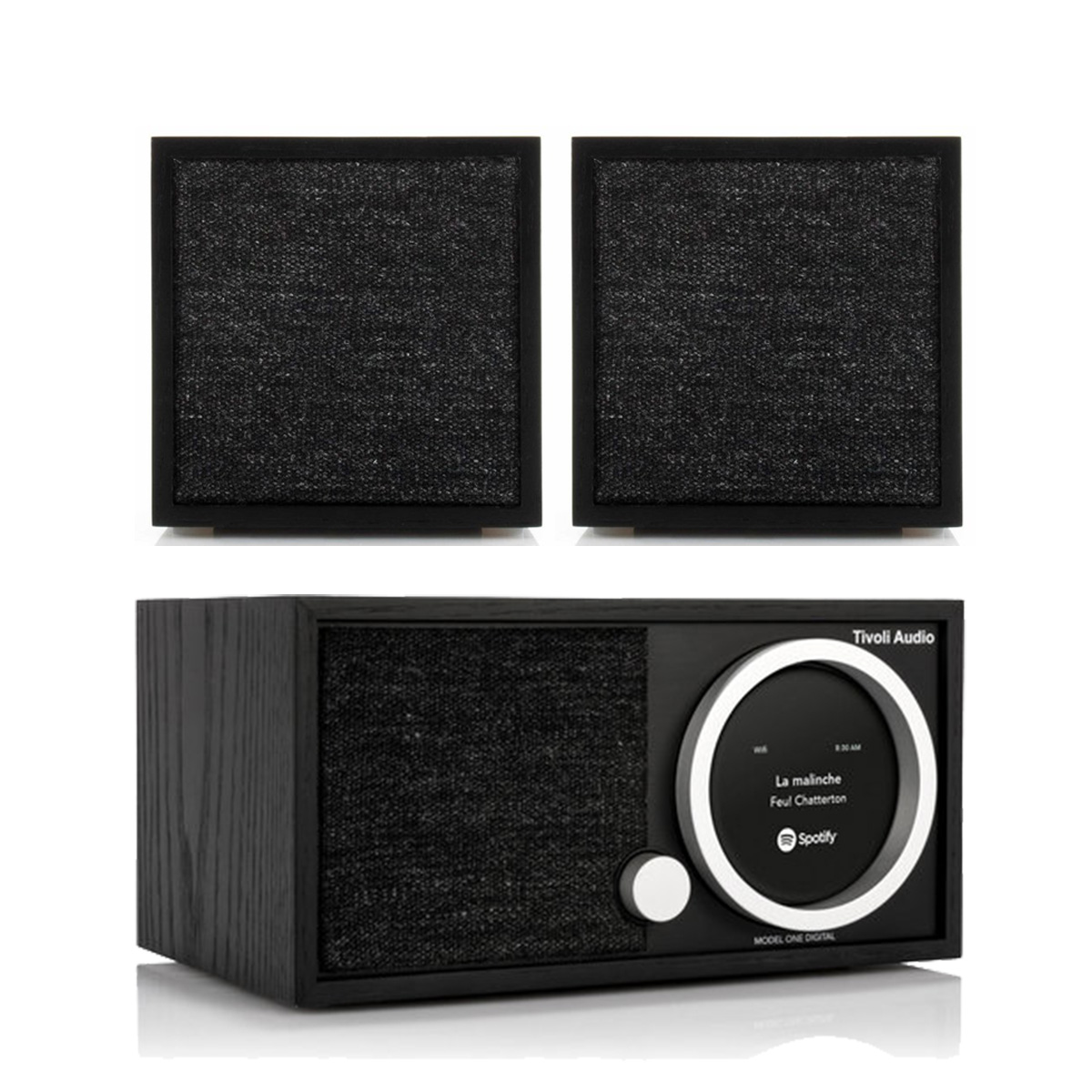 Tivoli Audio Model One Digital FM Wi-Fi Bluetooth Radio Wireless Stereo Music System with CUBE Speakers Pair by Tivoli Audio