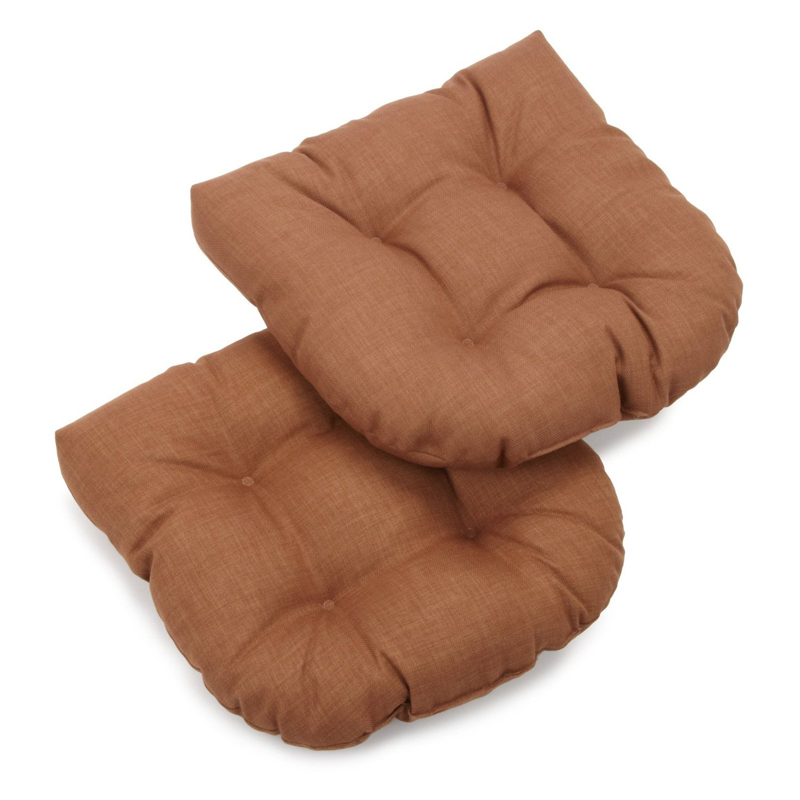 Blazing Needles 19 x 19 in. Solid Outdoor Wicker Chair Cushion