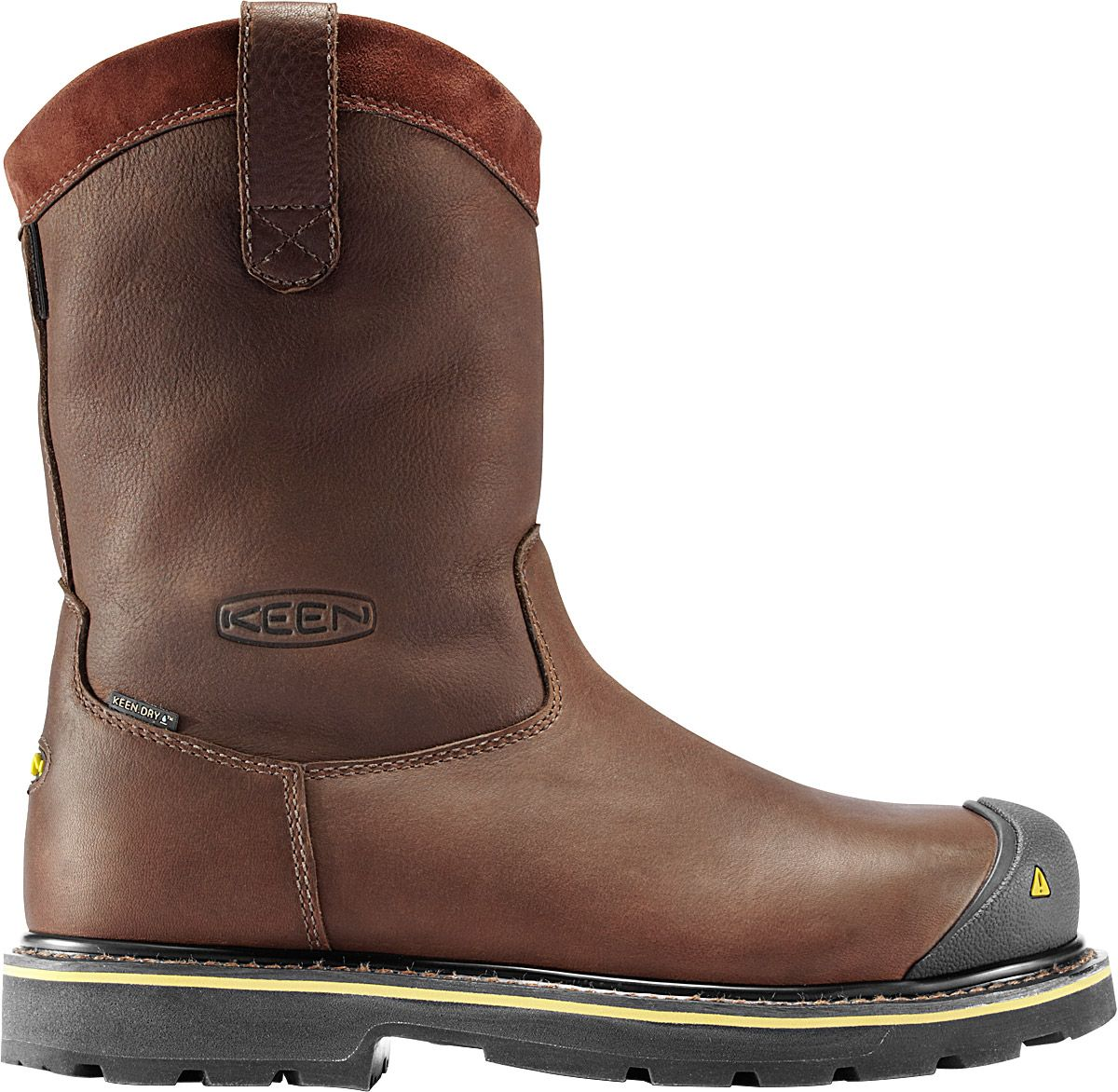 Waterproof Steel Toe Work Boots, Dark