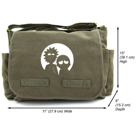 Rick and Morty Moonlight Heavyweight Canvas Messenger Shoulder