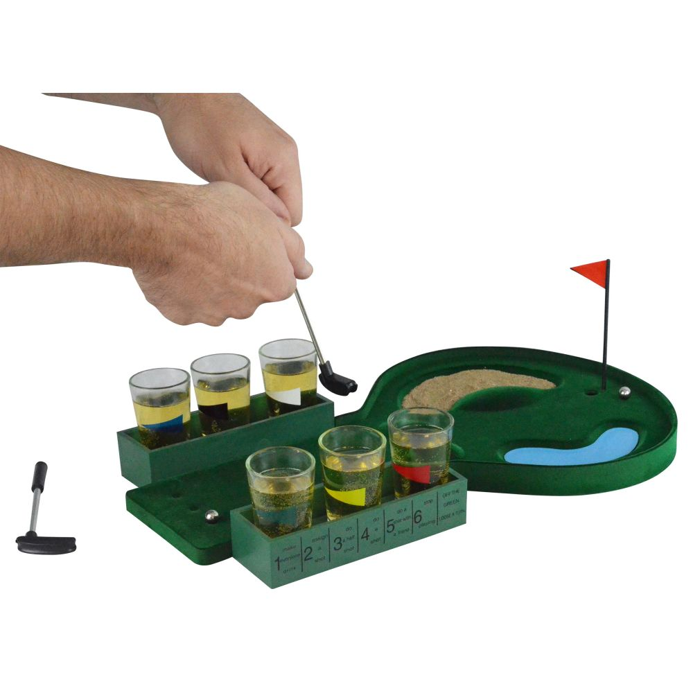 Fairly Odd Novelties Table Golf Shot Glass Drinking Game Set