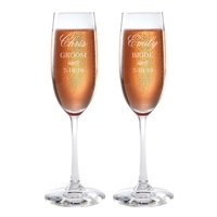348eb03988a7 Product Image Personalized Bride and Groom Champagne Flutes