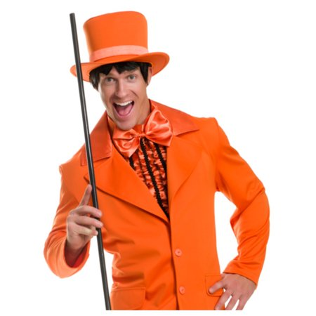 Deluxe Orange Dumb And Dumber Mad Hatter Gentlemens Top Hat Costume - Couples Dumb And Dumber Costumes