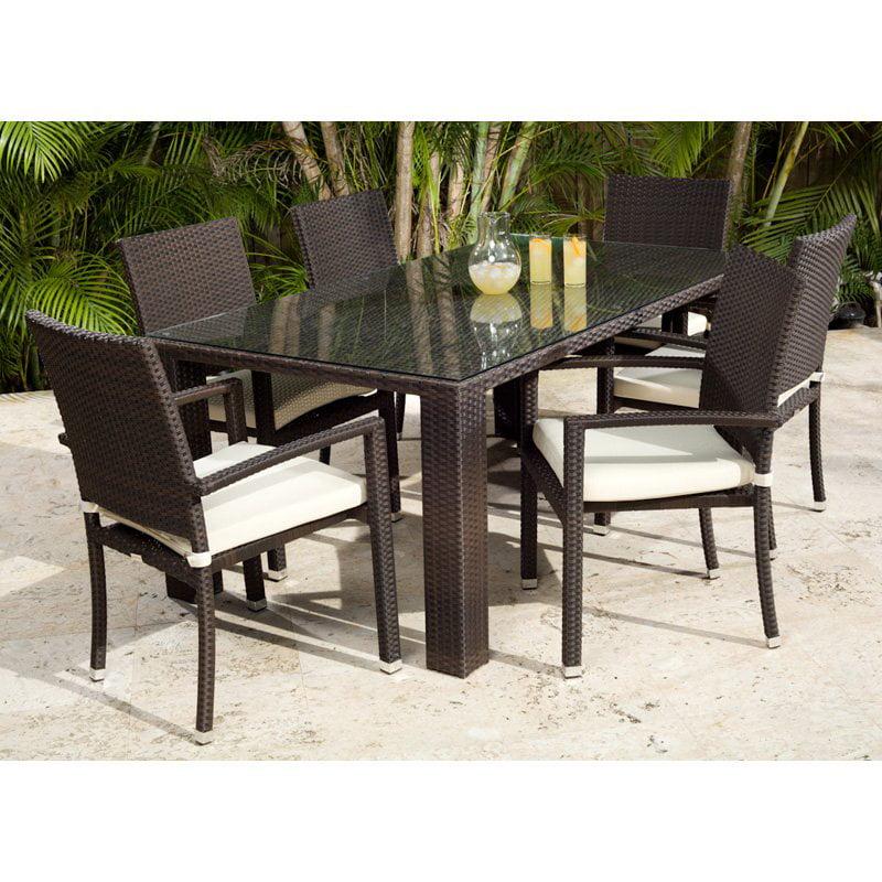 Source Outdoor Zen St. Tropez All-Weather Wicker Patio Dining Set - Seats 6