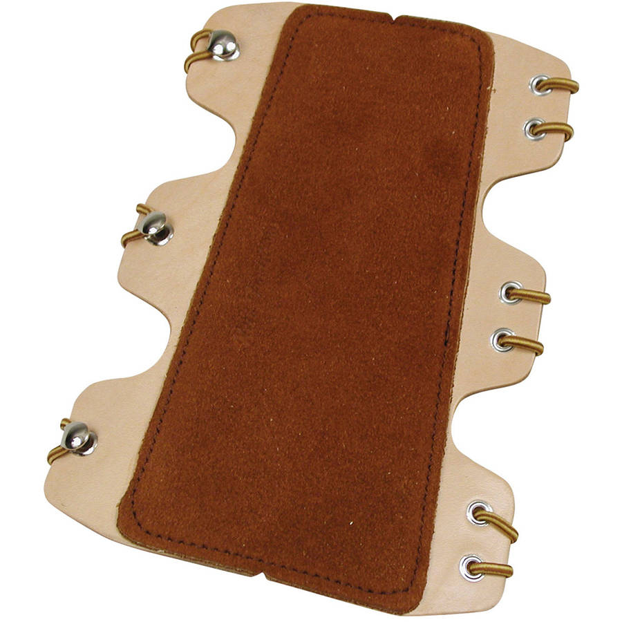 Neet T-AGL-3 Armguard, Lace-On, Brown, Suede