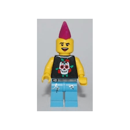 LEGO Collectible Series 4 Punk Rocker Minifigure - Minifig only Entry (Punk Rocker Outfits)