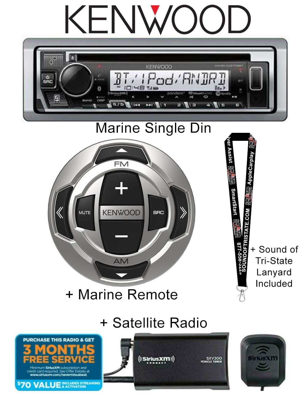 Wired Remote Kenwood Marine Digital Media Bluetooth Receiver