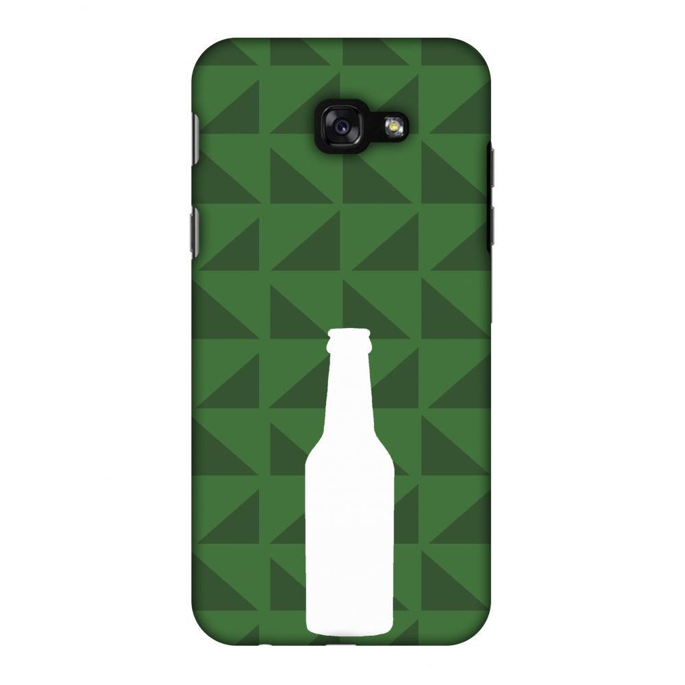 Samsung Galaxy A7 2017 Case, Premium Handcrafted Designer Hard Shell Snap On Case Printed Back Cover with Screen Cleaning Kit for Samsung Galaxy A7 2017, Slim, Protective - Beer and pattern - Green