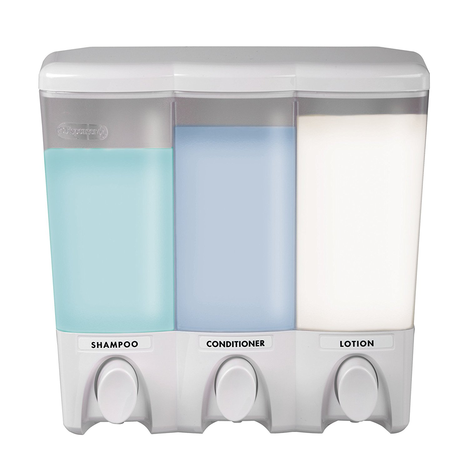 White Better Living Products 72250 Clear Choice 2-Chamber Shower Dispenser