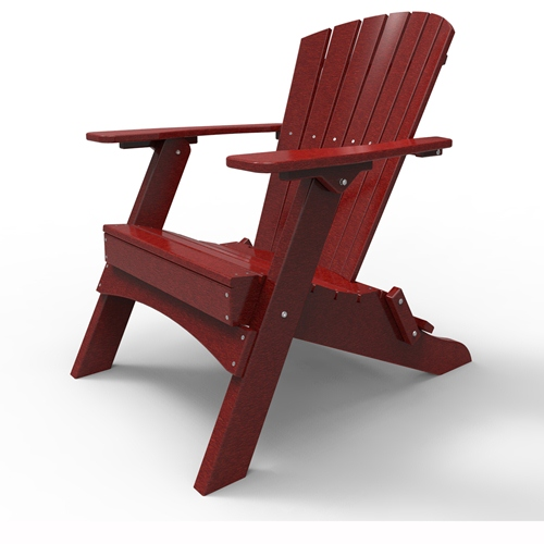 Folding Adirondack Chair by Malibu Outdoor - Hyannis, Red