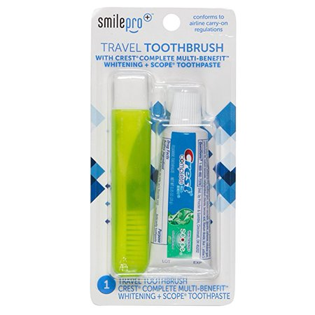 Dental Source Travel Toothbrush and Crest Toothpaste Kit, 5-pack ()