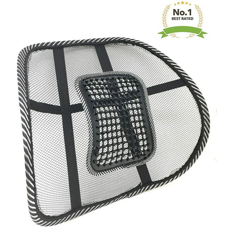 New Lightweight Mesh Back Support with Massage Vent Mesh Design 2018 Best Lower Back Brace Support Car Seat Chair Cushion (Best Lower Back Brace)
