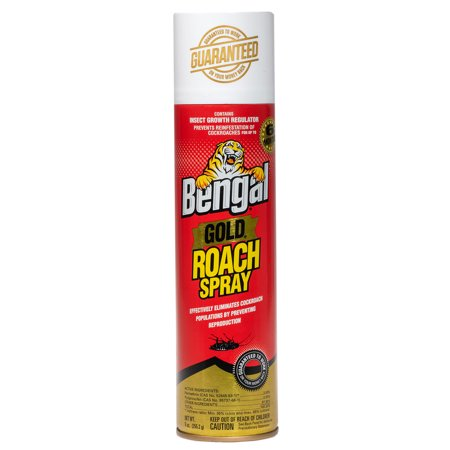 Bengal Gold Roach Killer, Pest Control Insect Spray and Roach Prevention Treatment, 9 Oz. Dry Aerosol