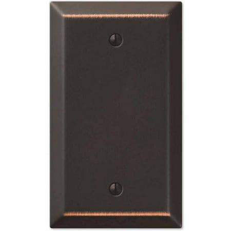 Blank Wall Plate Cover (Century Aged Bronze Steel Single Blank Wallplate)